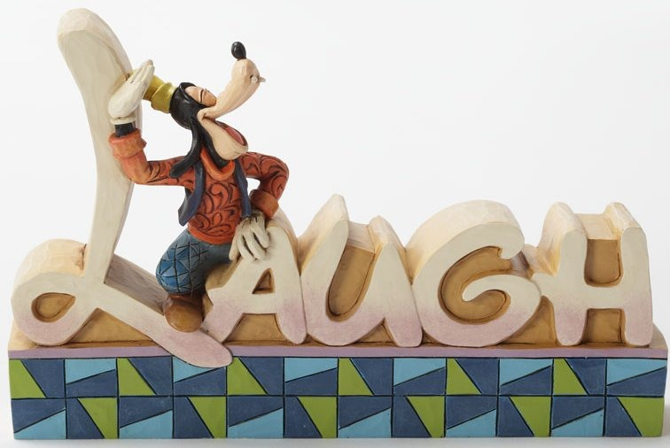 Jim Shore Disney 4032894 Goofy Laugh Word Plaque
