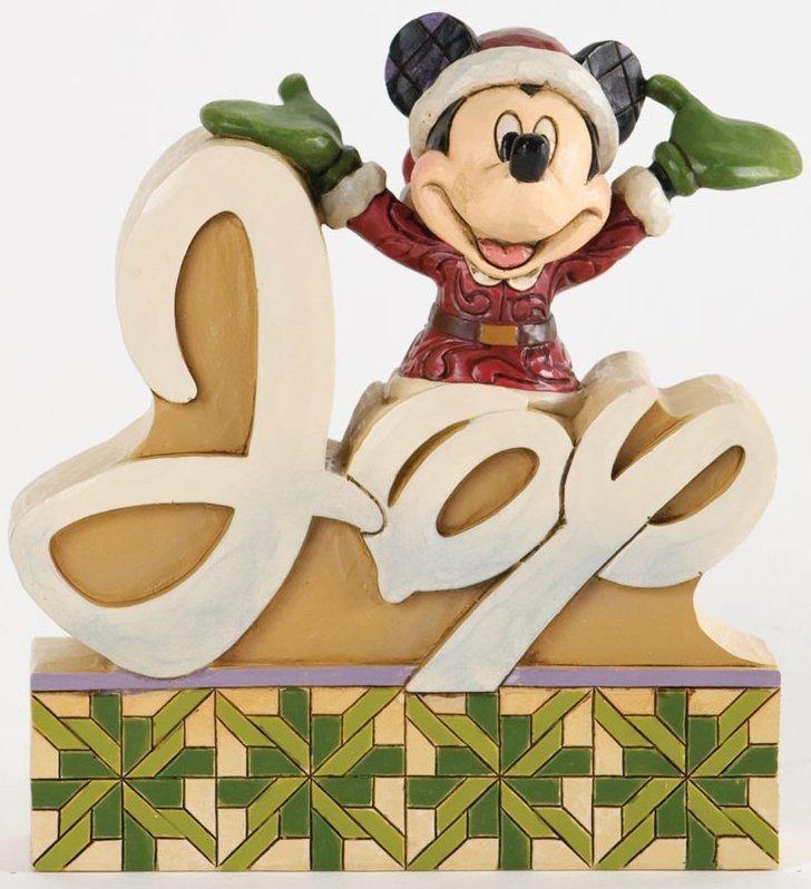 Jim Shore Disney 4033261 Joy Word Plaque