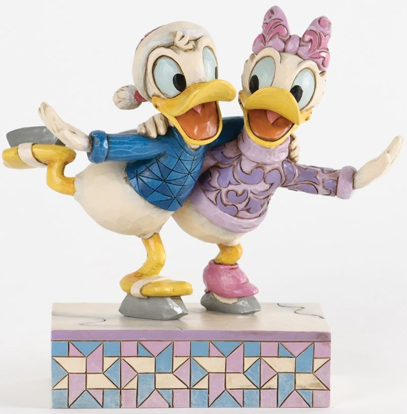 Jim Shore Disney 4033269 Donald and Daisy Skating