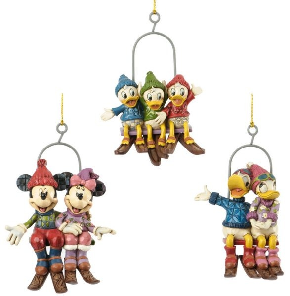 Jim Shore Disney 4033272 Ski Lift Ornament Set