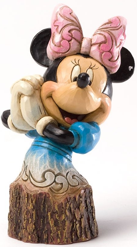 Jim Shore Disney 4033289 Minnie Carved by Heart
