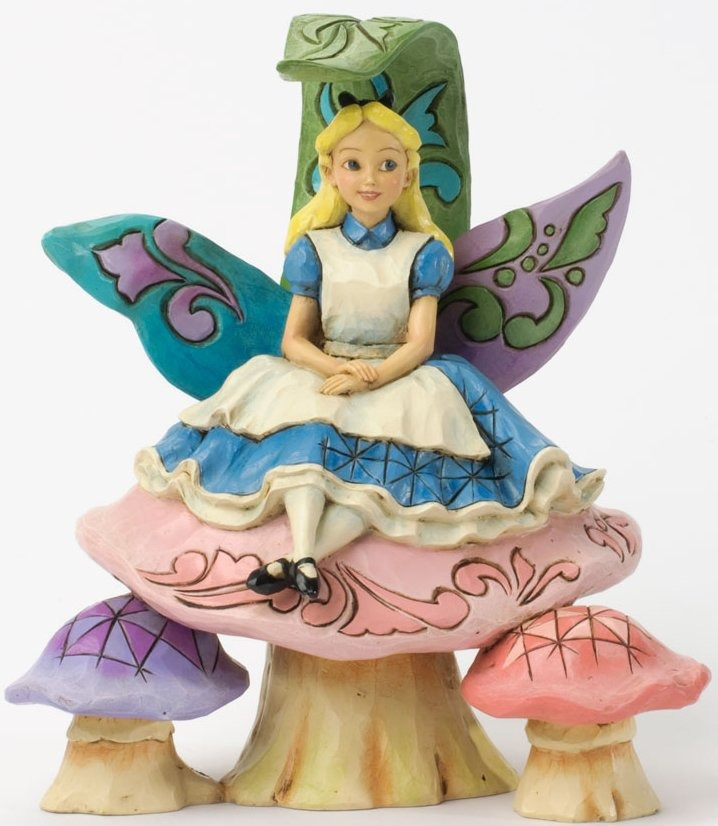 Jim Shore Disney 4037506 Alice on Mushroom