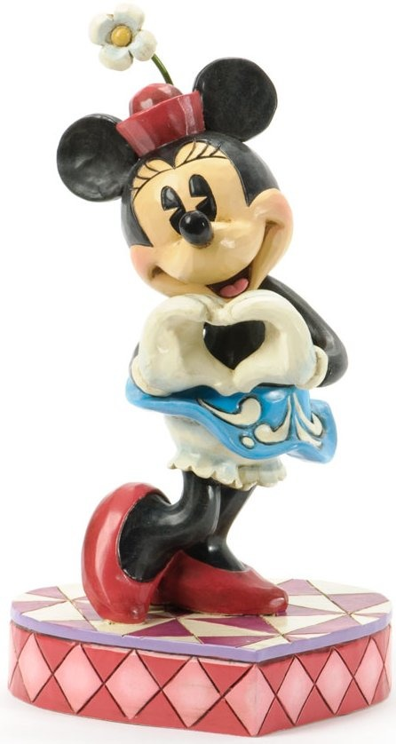 Jim Shore Disney 4037519 Minnie with Love Symbol