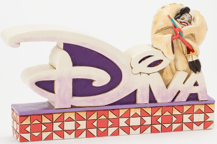 Jim Shore Disney 4038489 Cruella Diva Word Plaque