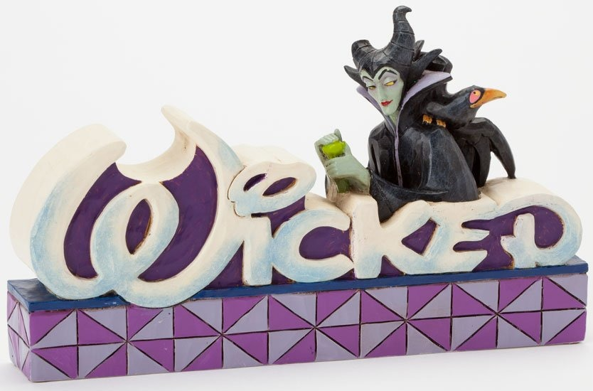 Jim Shore Disney 4038490 Maleficent Wicked Word