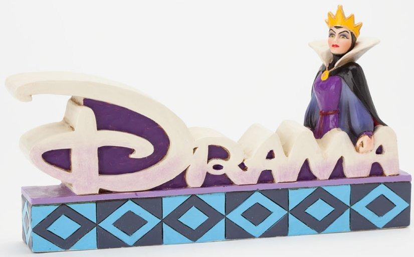 Jim Shore Disney 4038491 Queen Drama Word Plaque