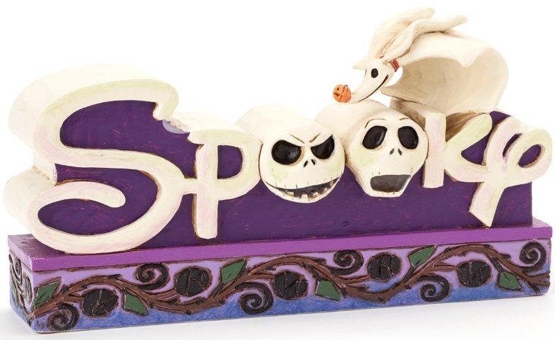 Jim Shore Disney 4038492 Jack Spooky Word Plaque
