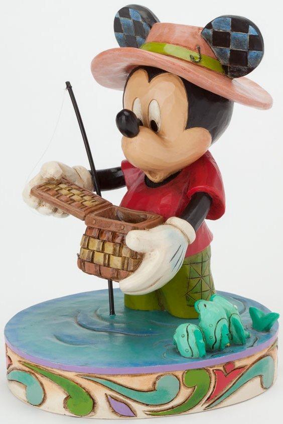 Jim Shore Disney 4038493 Mickey Fishing Fig