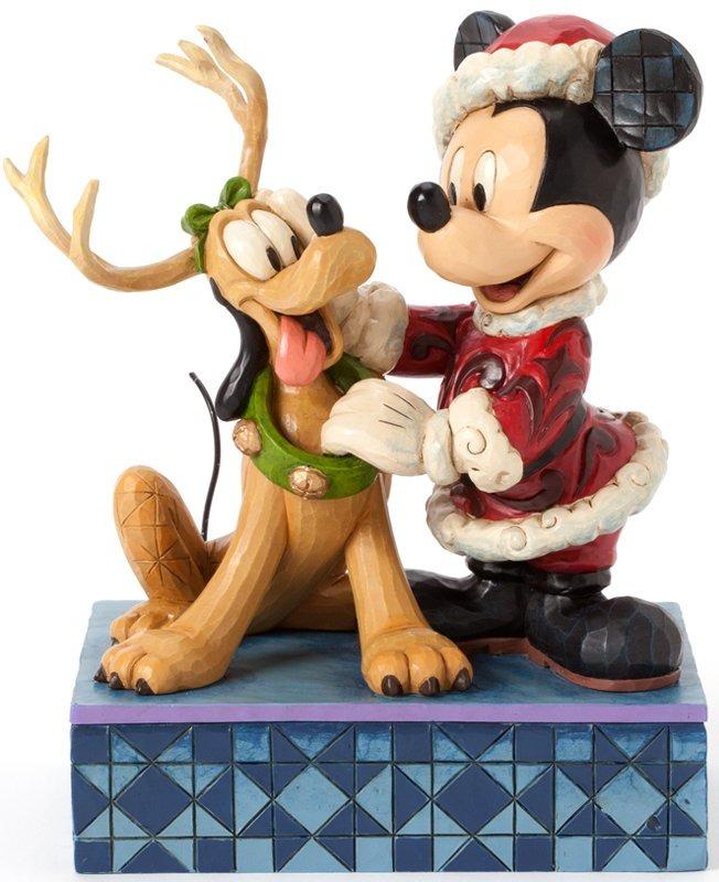 Jim Shore Disney 4039033 Santa Mickey w Pluto