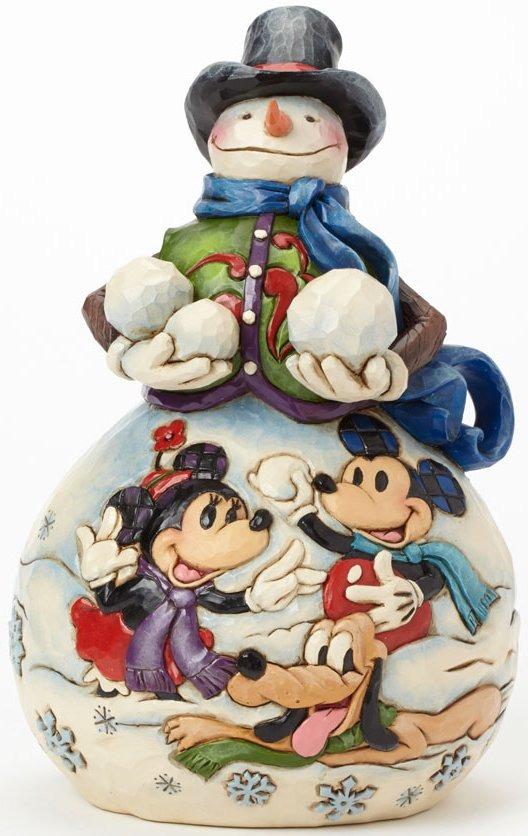 Jim Shore Disney 4039037 Snowman w bas relief