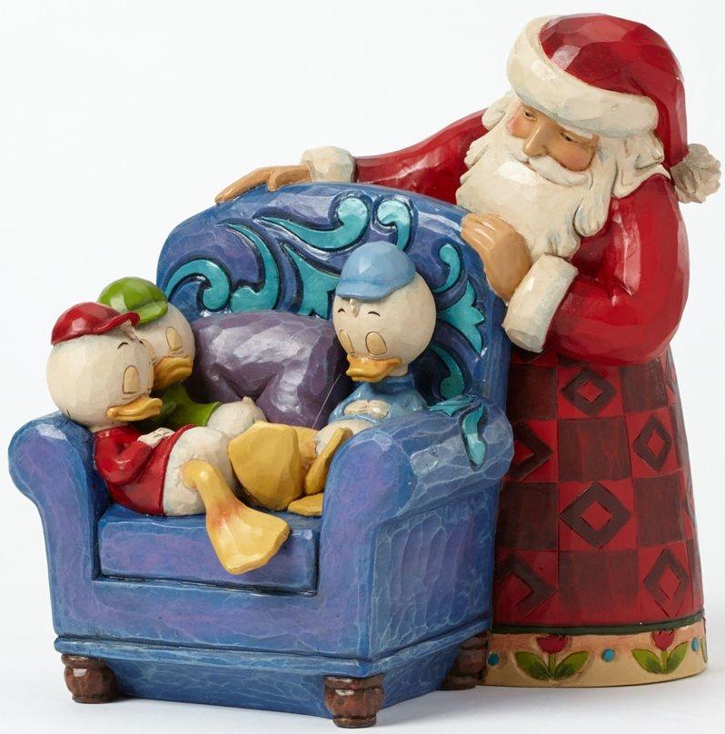 Jim Shore Disney 4039038 Santa w Huey Dewey Louie
