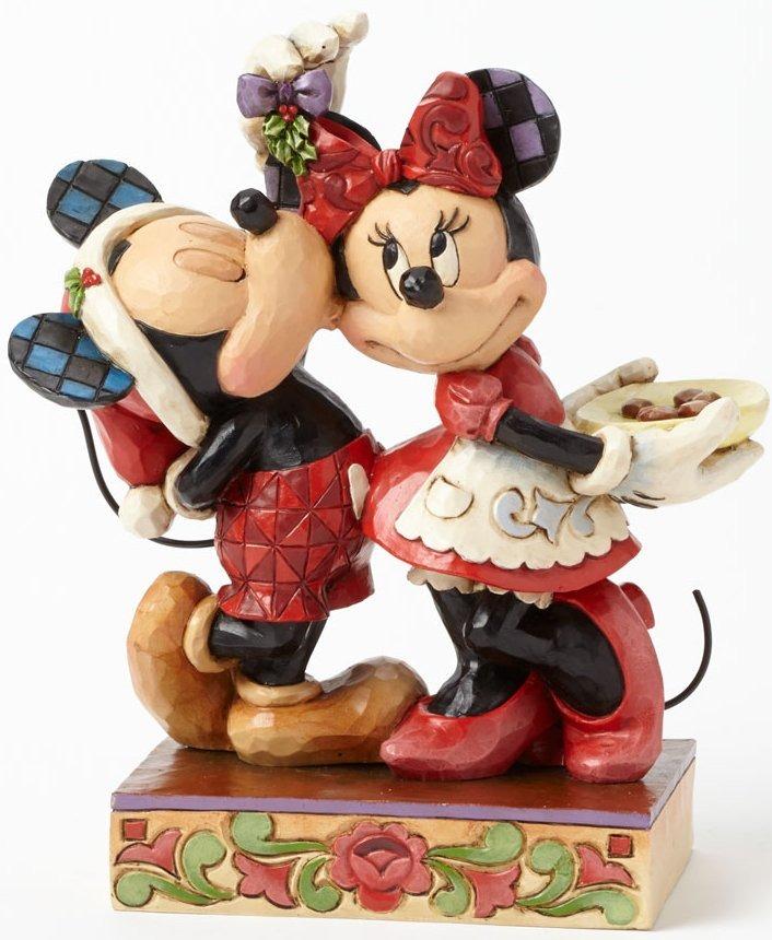 Jim Shore Disney 4039039 Mickey and Minnie Mistletoe