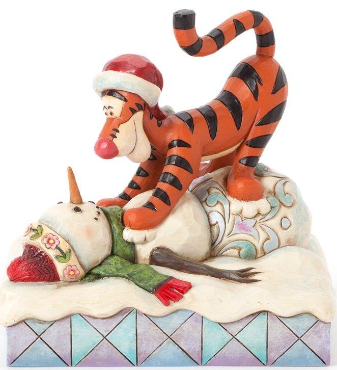 Jim Shore Disney 4039044 Tigger pouncing on Snowman