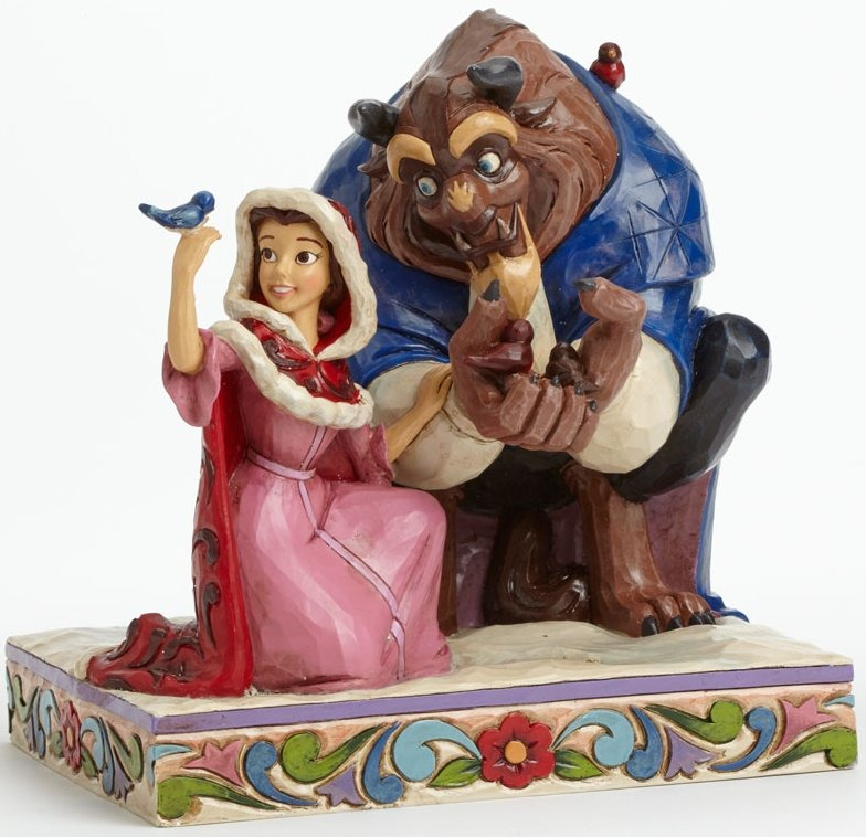 Jim Shore Disney 4039075 Belle and Beast Winter