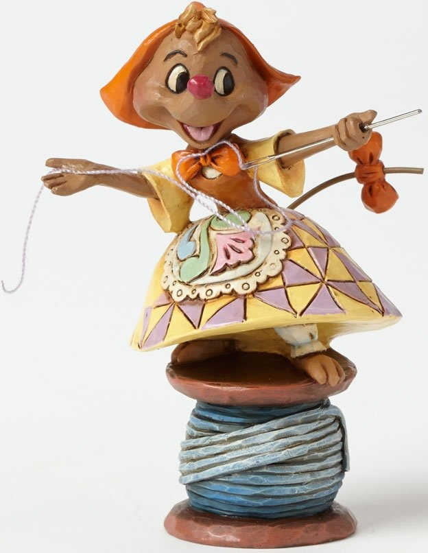 Jim Shore Disney 4039085 Suzy on spool of thread
