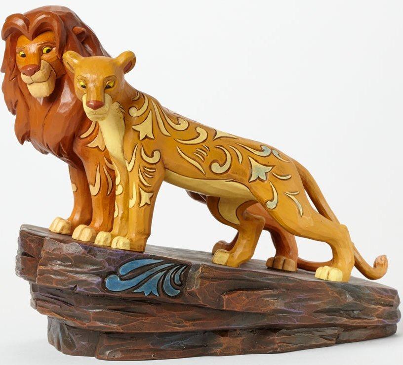 Jim Shore Disney 4040432 Simba and Nala on Pride