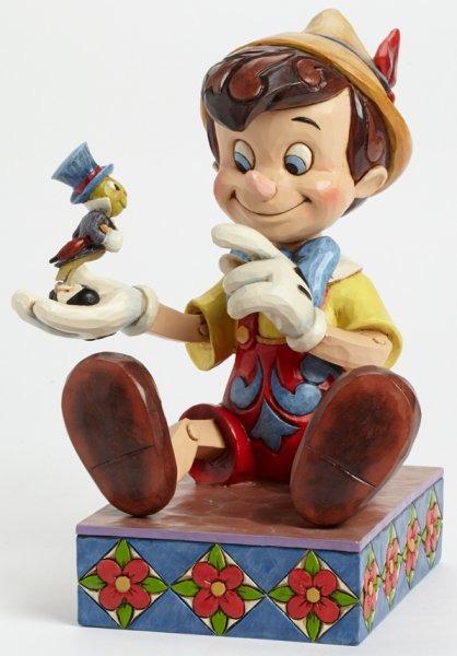 Jim Shore Disney 4043647 Pinocchio and Jiminy Cri