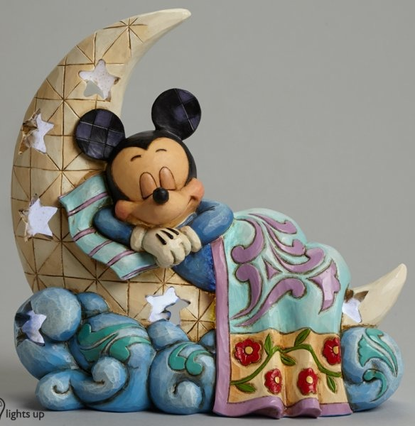 Jim Shore Disney 4043662 Mickey on Moon Figurine