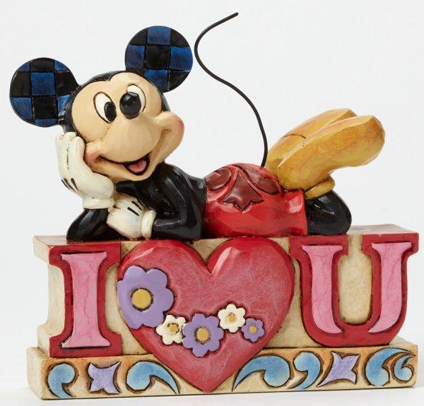 Jim Shore Disney 4043669 Mickey I Heart U Word