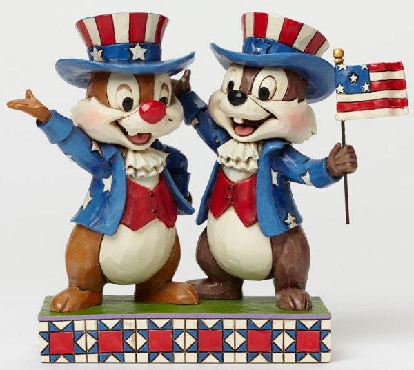Jim Shore Disney 4045236 Patriotic Chip and Dale