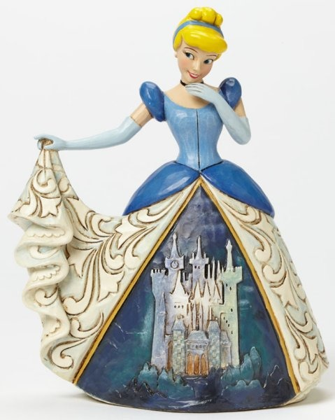 Jim Shore Disney 4045239 Cinderella with Castle Dress