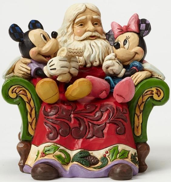 Jim Shore Disney 4046017 Santa in Chair with Mick