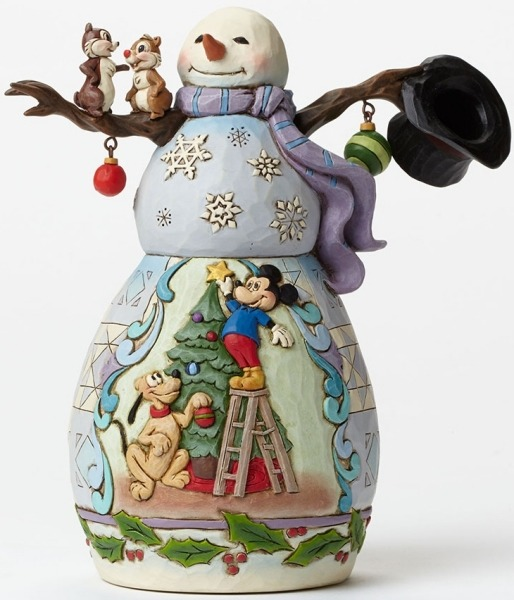 Jim Shore Disney 4046019 Snowman - Pluto's Christ