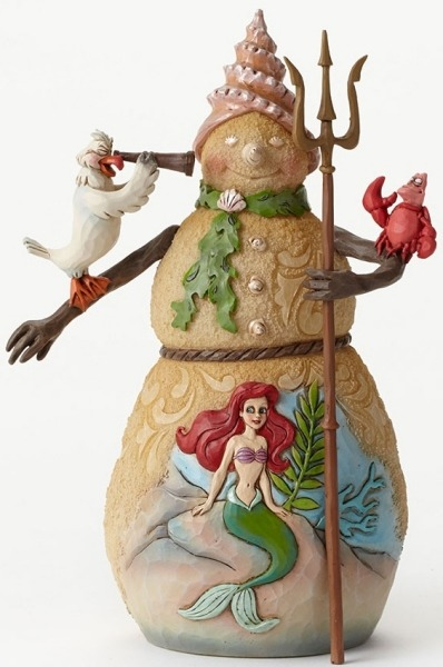 Jim Shore Disney 4046021 Snowman Little Mermaid