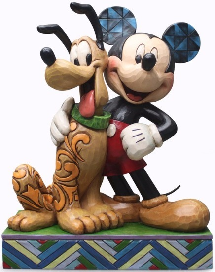 Jim Shore Disney 4048656 Mickey & Pluto