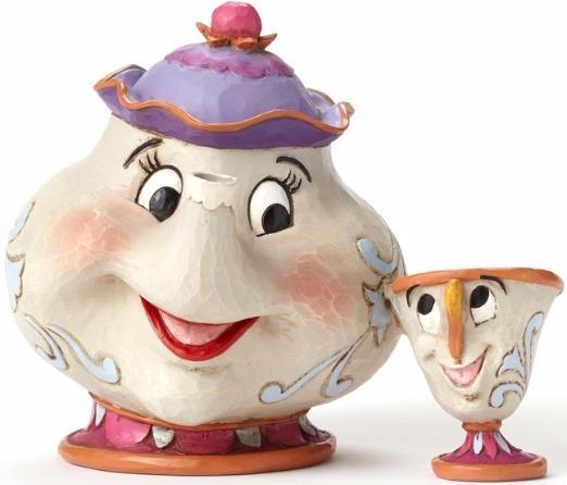 Jim Shore Disney 4049622 Mrs. Potts and Chip Figurines