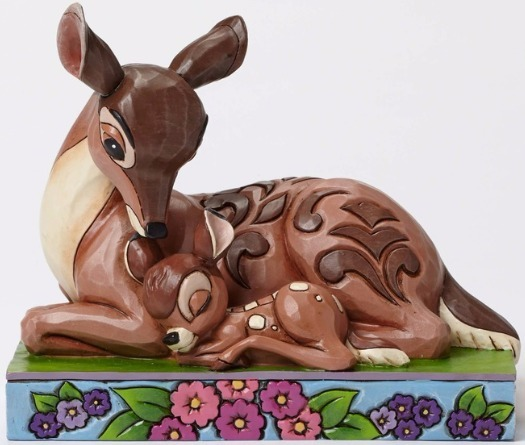 Jim Shore Disney 4049640 Bambi laying down with M