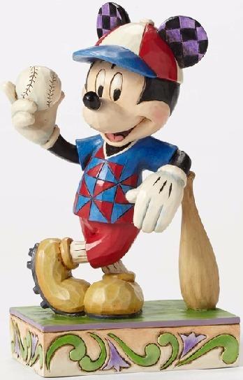 Jim Shore Disney 4050400 Mickey Baseball