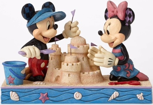 Jim Shore Disney 4050413 Seaside Mickey and Minnie