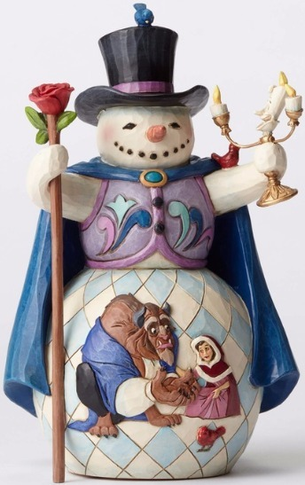 Jim Shore Disney 4051973 Beauty and Beast Snowman