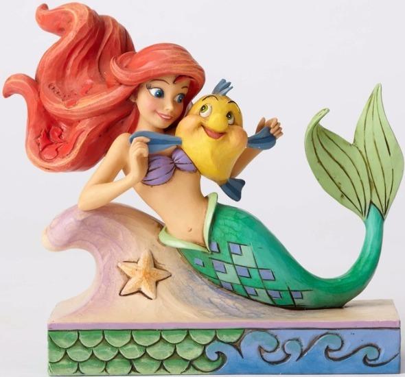 Jim Shore Disney 4054274 Ariel with Flounder