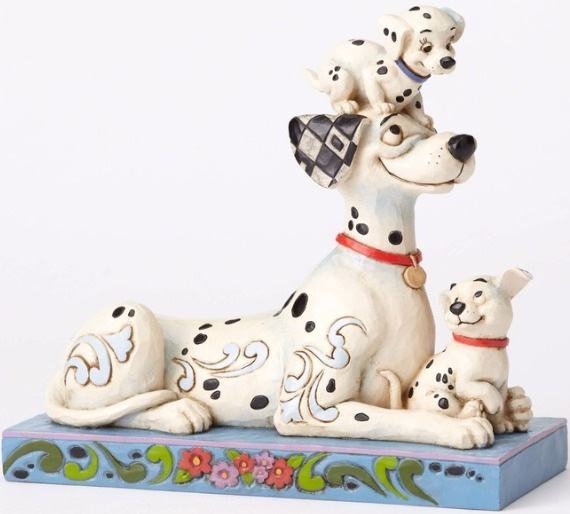 Jim Shore Disney 4054278 Pongo with Penny and Rolly