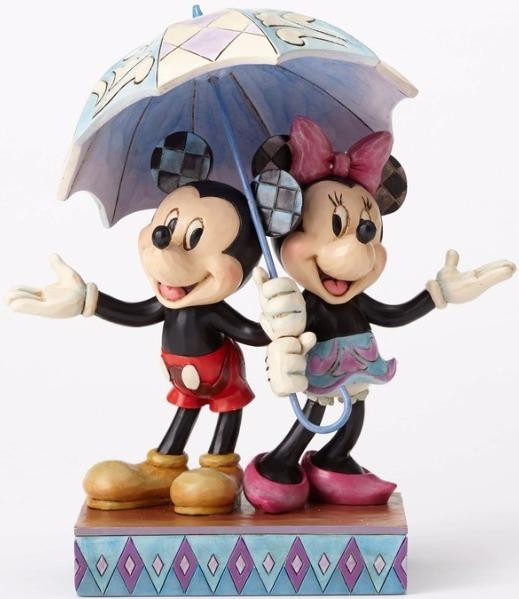 Jim Shore Disney 4054280 Mickey and Minnie Sharin