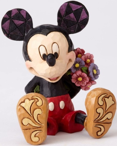 Jim Shore Disney 4054284 Mini Mickey with flowers