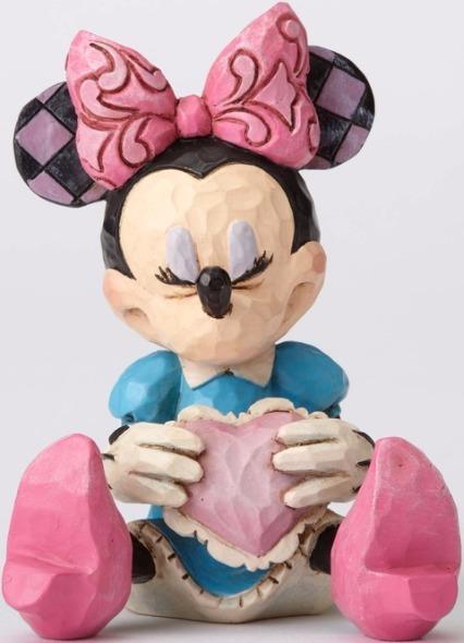 Jim Shore Disney 4054285 Mini Minnie with a hear