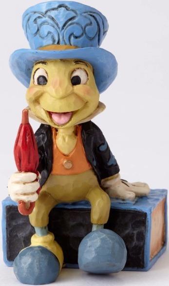 Jim Shore Disney 4054286 Mini Jiminy Cricket on a