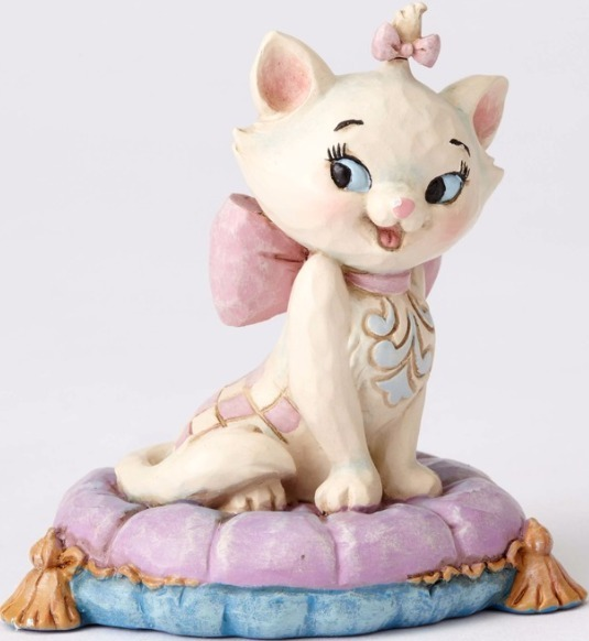 Jim Shore Disney 4054288 Mini Marie Cat on a pillow
