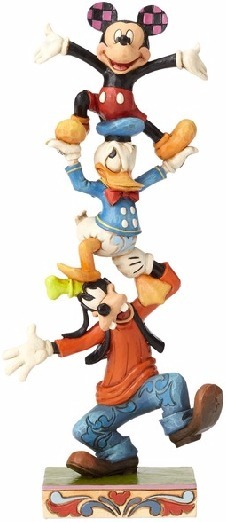Jim Shore Disney 4055412 Goofy Donald and Micke