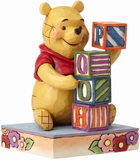 Jim Shore Disney 4055420 Pooh with Baby Blocks