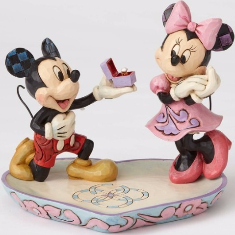 Jim Shore Disney 4055436 Mickey Proposing to Minnie