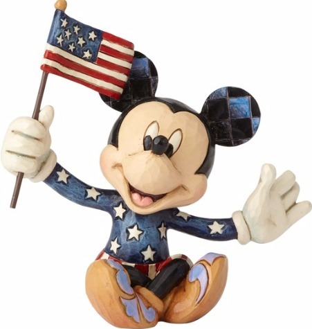 Disney Traditions by Jim Shore 4056743 Mini Patriotic Mickey