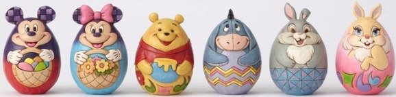 Disney Traditions by Jim Shore 4057679N Character Eggs 6 Ast