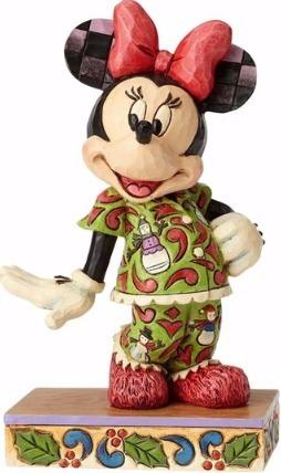 Jim Shore Disney 4057936 Minnie in Christmas Pajamas