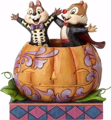 Jim Shore Disney 4057947 Chip & Dale in Pumpkin