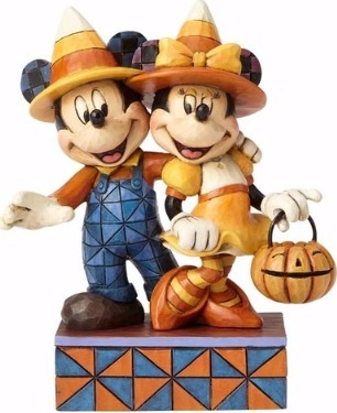 Jim Shore Disney 4057948 Candy Corn Mickey and Minnie