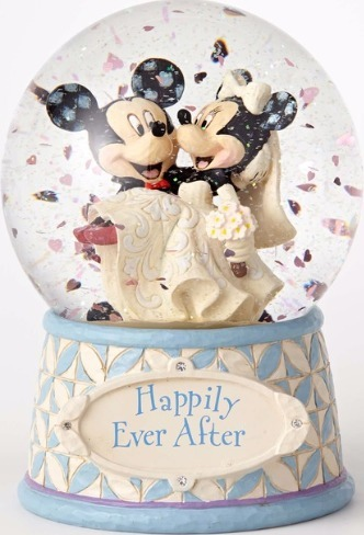 Disney Traditions by Jim Shore 4059185 Mickey and Minnie Wedding Waterball